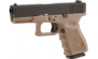 Réplique de poing type Glock 19 S19 Black/Tan STARK Gaz