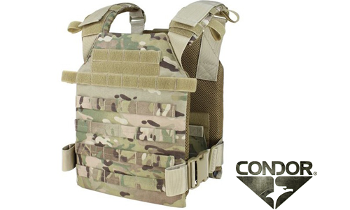 Gilet tactique airsoft Plate Carrier Sentry Lightweight CONDOR Multicam