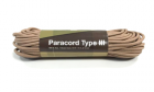 Paracord 550lb 50 feet / 15.24 mètres Khaki Invader Gear