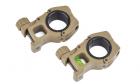 Anneaux de montage M10 30mm avec niveaux DE AIM-O pour lunette de réplique airsoft