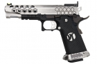 AW Custom HX25 Series Full Metal Competition Ready Gas Blowback Pistol - Silver