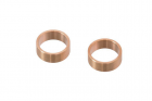 Bague canon slong  Barrel copper ring