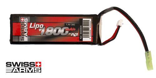 Batterie LiPo 1 élément 7,4V 1800mAh 30C Swiss Arms