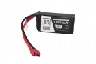 batterie LiPo 7,4V 1300mAh 15/30C  - T-Connect (Deans)