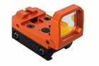 Blackcat Airsoft Folding Red Dot Sight - Orange