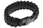 Bracelet Paracord Noir Invader Gear