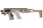 CAA Airsoft Division MICRO RONI G5 Pistol - Carbine Conversion for Glock Series - DE
