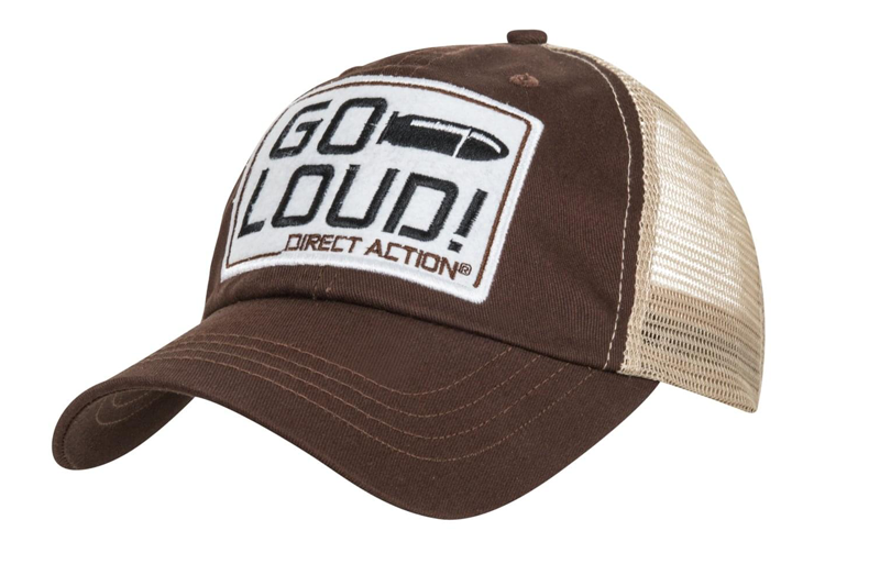 Casquette Feed Cap GO LOUD! Brown Direct Action
