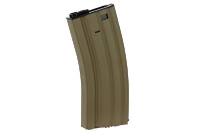Chargeur Hi-cap métal 300 billes pour M4 AEG tan