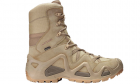 Chaussures tactiques Zephyr GTX HI TF Desert LOWA pour la pratique de l'airsoft, situation réelle et activités outdoor.