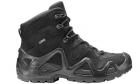 Chaussures tactiques Zephyr GTX MID TF Noir LOWA pour la pratique de l'airsoft, situation réelle et activités outdoor.