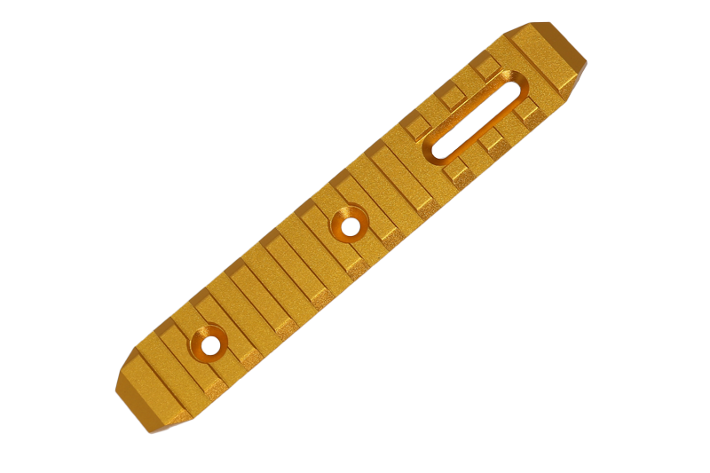 *CNC KEYMOD rail GOLD 125mm SLONG