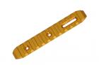 CNC M-LOK rail GOLD 128mm SLONG