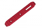 CNC M-LOK rail RED 128mm SLONG