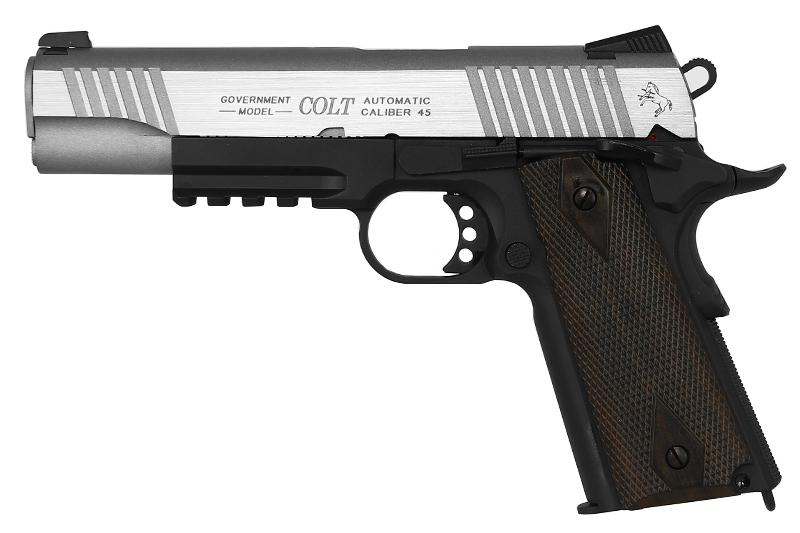 COLT M1911 Rail Gun Dual Tone Stainless CO2