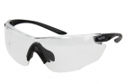 COMBAT Monture noire - oculaire incolore PC anti-rayures/anti-buée PLATINUM
