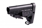 Crosse CBS rétractable CAA pour tube commercial type AR15, compatible réplique airsoft
