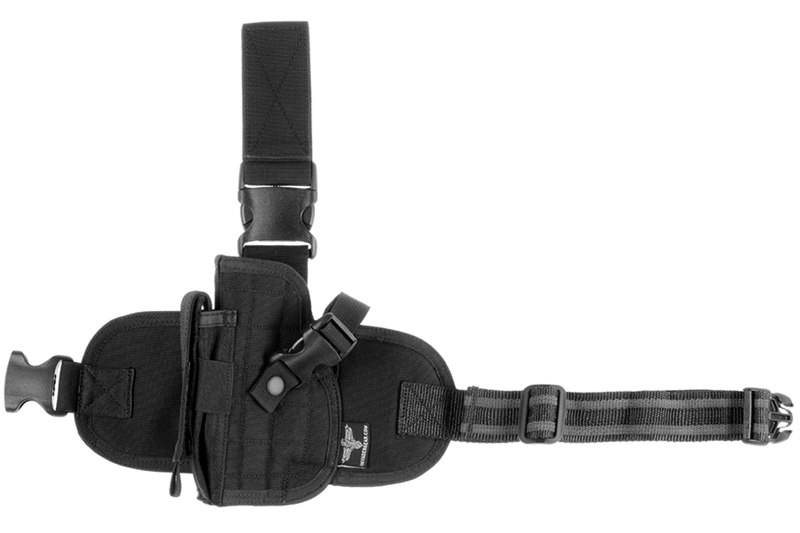 Dropleg Holster Left Black Invader Gear