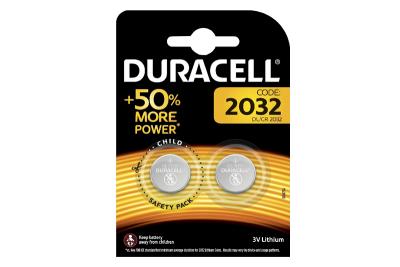 Duracell Pack de 2 piles CR2032 lithium 3 volts - Dur