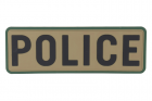 "Emerson Gear PVC Patch""POLICE""-BROWN"