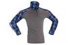 Flannel Combat Shirt Invader Gear Blue