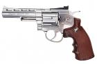Gun Heaven (WinGun) 701 4 inch 6mm Co2 Revolver (Brown Grip) - Silver