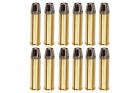 Gun Heaven Full Metal Brass Shells for WinGun / Dan Wesson 6mm Series Airsoft Co2 Revolvers (12pcs / Set)