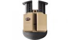 Holster rigide rotatif de ceinture double chargeur Khaki pour réplique de poing 9mm P226 / M9 FOBUS
