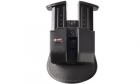 Holster rigide rotatif de ceinture double chargeur Noir pour réplique de poing type 9mm P226 M9 FOBUS