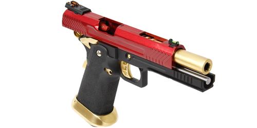 Réplique de poing airsoft GBB HX1104 Full Red ARMORER WORKS Gaz