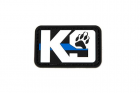 K9 Blue Line Paw - 3D Patch