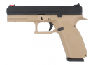 Réplique airsoft GBB type Glock KP-13 Tan KJW Works Gaz