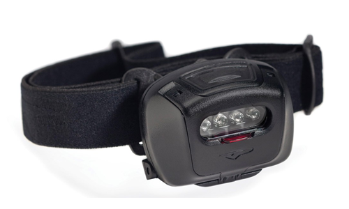 Lampe Frontale Black Quad Tactical LED Blanche avec filtre R/V/B PRINCETON TEC