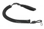 Lanyard Spiral Paracorde attache ceinture Noir