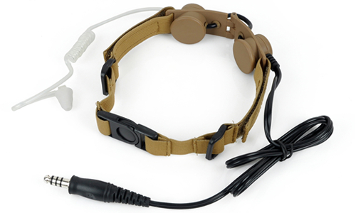 Laryngophone Tactical Throat DE Z-TACTICAL pour communication lors de vos parties airsoft