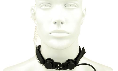 Laryngophone Tactical Throat Noir Z-TACTICAL pour communication lors des parties d'airsoft