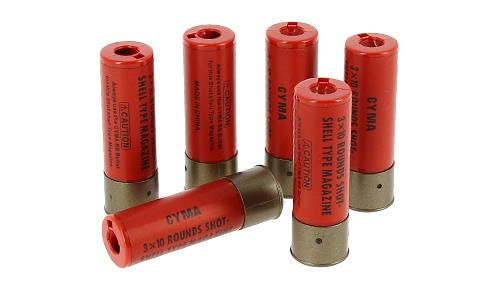 Lot 6 cartouches pour fusils à pompe Swiss Arms