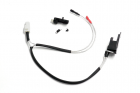 Low resistance Wire Set for AK47S series (Front) with Silver-plated cord Tamiya Plug
