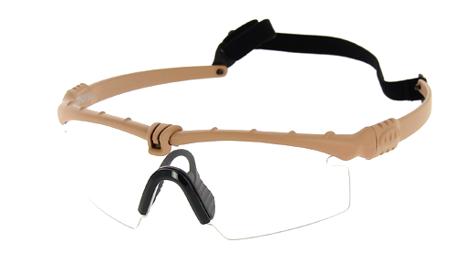 Lunettes Battle Pro Thermal Tan/Clear - Nuprol