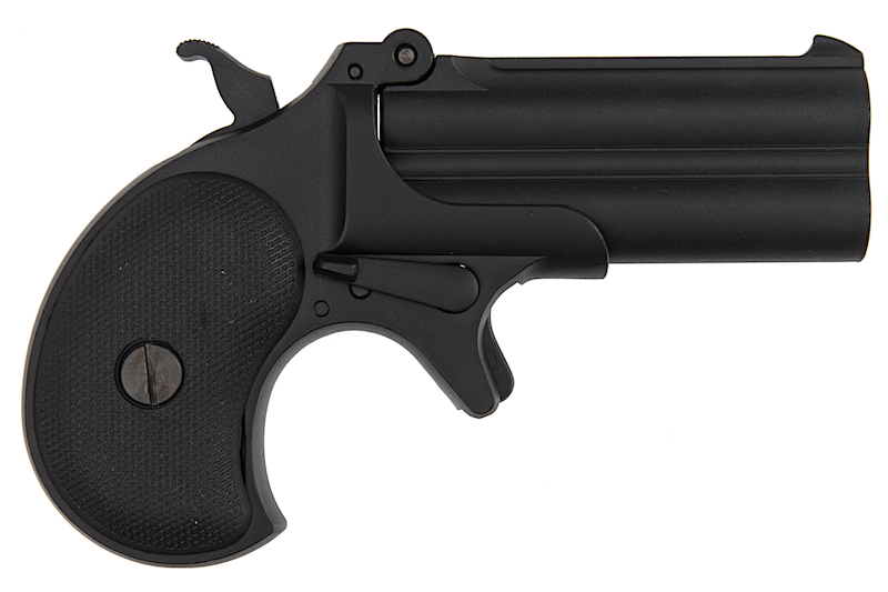 MAXTACT Derringer Full Metal Double Barrel 6mm GBB Pistol - Black