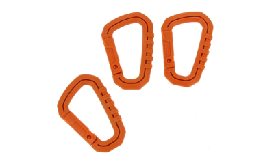 Mousquetons Type D PVC Orange FMA