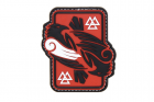 Odins Raven Rubber Patch color