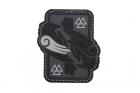 Odins Raven Rubber Patch Grey JTG