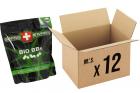 Pack 12 sachets de 4000 billes 0.25g Bio SWISS ARMS pour réplique airsoft