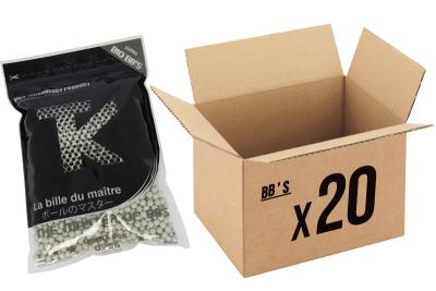 Pack 20 sachets de 3000 billes 0.28g Bio TANIO KOBA pour réplique airsoft