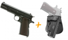 Pack COLT M1911 A1 100th Anniversary Blowback CO2 et holster