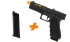 Pack réplique de poing airsoft Gladius 17 Noir / Or SECUTOR Gaz / CO2 avec chargeur supplémentaire