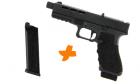 Pack réplique de poing airsoft GBB Gladius 17 Noir SECUTOR Gaz / CO2 avec chargeur supplémentaire
