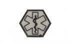 Paramedic Hexagon Rubber Patch ranger green
