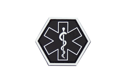 Paramedic Hexagon Rubber Patch swat